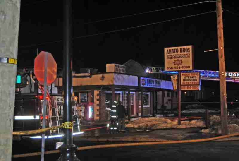 OAKLYN BUILDING FIRE ALONG WHITE HORSE PIKE – REHAB 13 TO THE SCENE FOR PERSONNEL SUPPORT