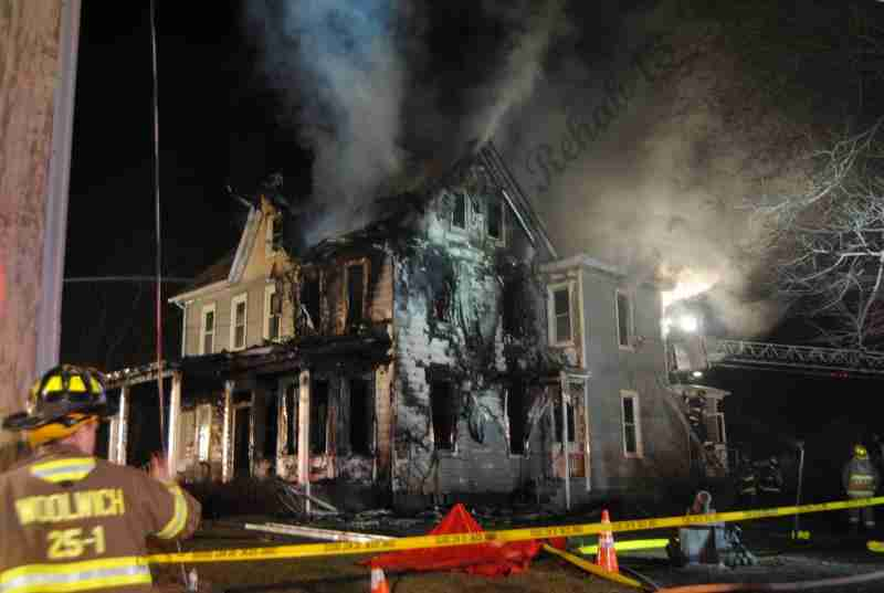 MULTI ALARM DWELLING FIRE IN EAST GREENWICH OVERNIGHT – REHAB 13 REQUESTED TO THE SCENE FOR PERSONNEL SUPPORT