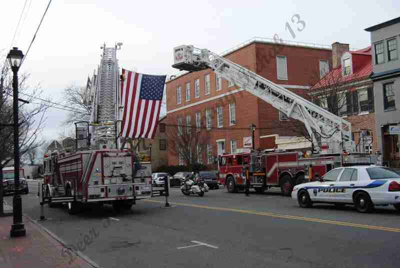 REHAB 13 RESPONDED TO THE REQUEST FOR SUPPORT AT THE R. KEVIN JOHNSON FUNERAL TODAY