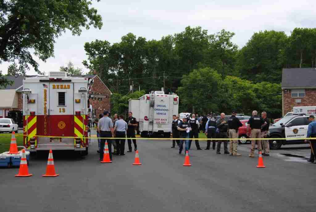 EVESHAM TWP POLICE FIRE AND EMS HANDLE A BARRICADED SUSPECT – REHAB 13 CALLED FOR 1ST RESPONDER SUPPORT DURING THE INCIDENT