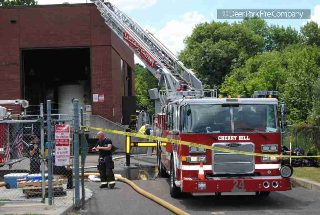 JULY 18  2018 – ALL HANDS BUILDING FIRE IN CHERRY HILL – 2000 BLOCK OF PARK BLVD – CCMUA PUMPING STATION