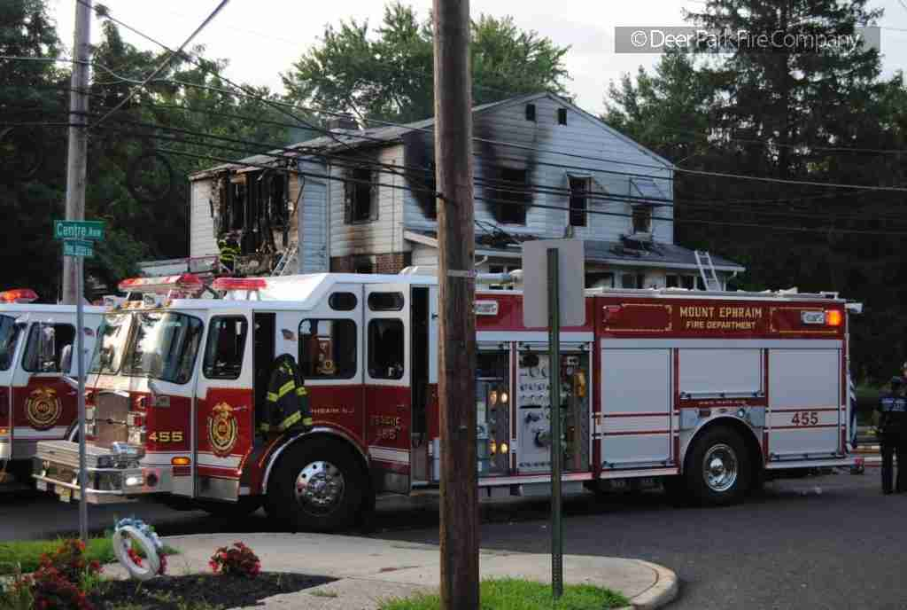 AUGUST 20 2018 – REHAB 13 IS SPECIAL CALLED ON THE 2ND ALARM FIRE IN MOUNT EPHRAIM THIS MORNING FOR PERSONNEL SUPPORT
