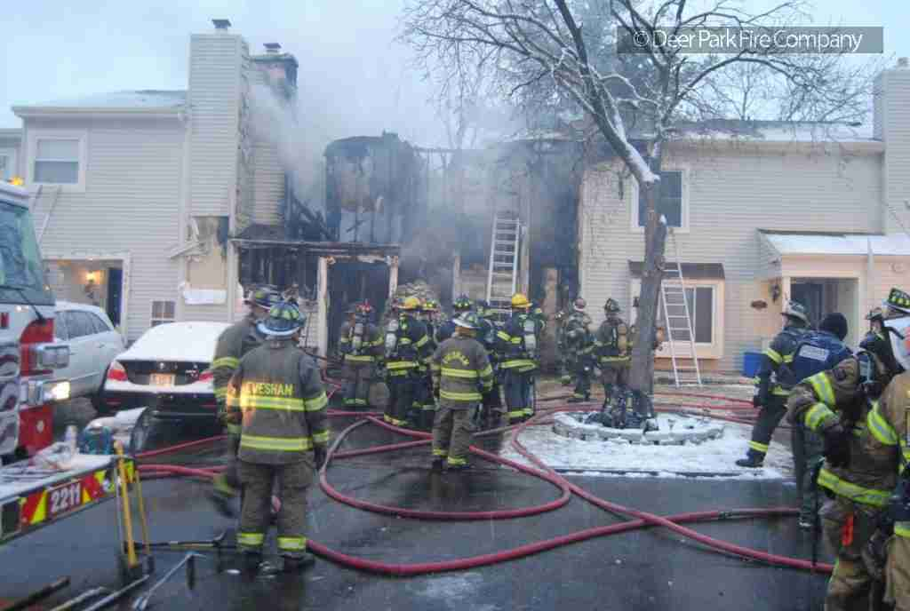 JANUARY 13, 2019 – REHAB 13  IS SPECIAL CALLED TO EVESHAM FOR A 2 STORY TOWNHOUSE FIRE IN MARLTON VILLAGE SECTION