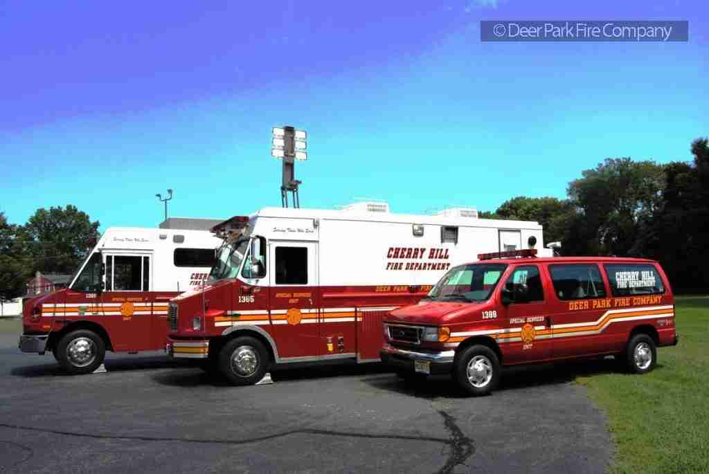 APRIL 8, 2019 – SEARCH BY CHERRY HILL POLICE AND FIRE FOR SUICIDAL INDIVIDUAL NEAR THE CROFT FARM – REHAB 13 IS DISPATCHED