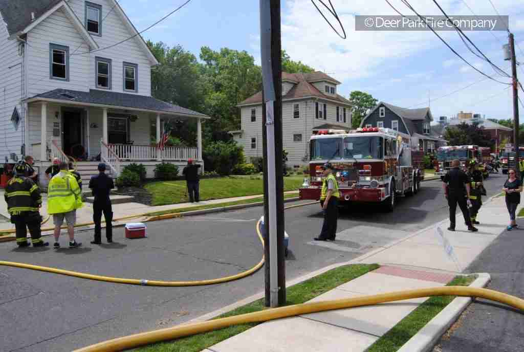 MAY 25,, 2019 – WESTMONT HOUSE FIRE ON THE UNIT BLOCK OF REEVE AVE. – REHAB 13 IS CALLED TO THE SCENE