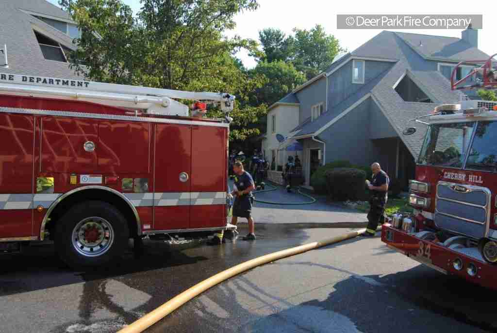 JULY 28, 2019 – MORNING DWELLING FIRE IN CHERRY HILL GOES ALL HANDS – REHAB 13 IS DISPATCHED – WHILE ON THE CHERRY HILL FIREGROUND A CALL WAS RECEIVED FROM GLOUCESTER COUNTY FOR A HOUSE FIRE IN WOODBURY HEIGHTS